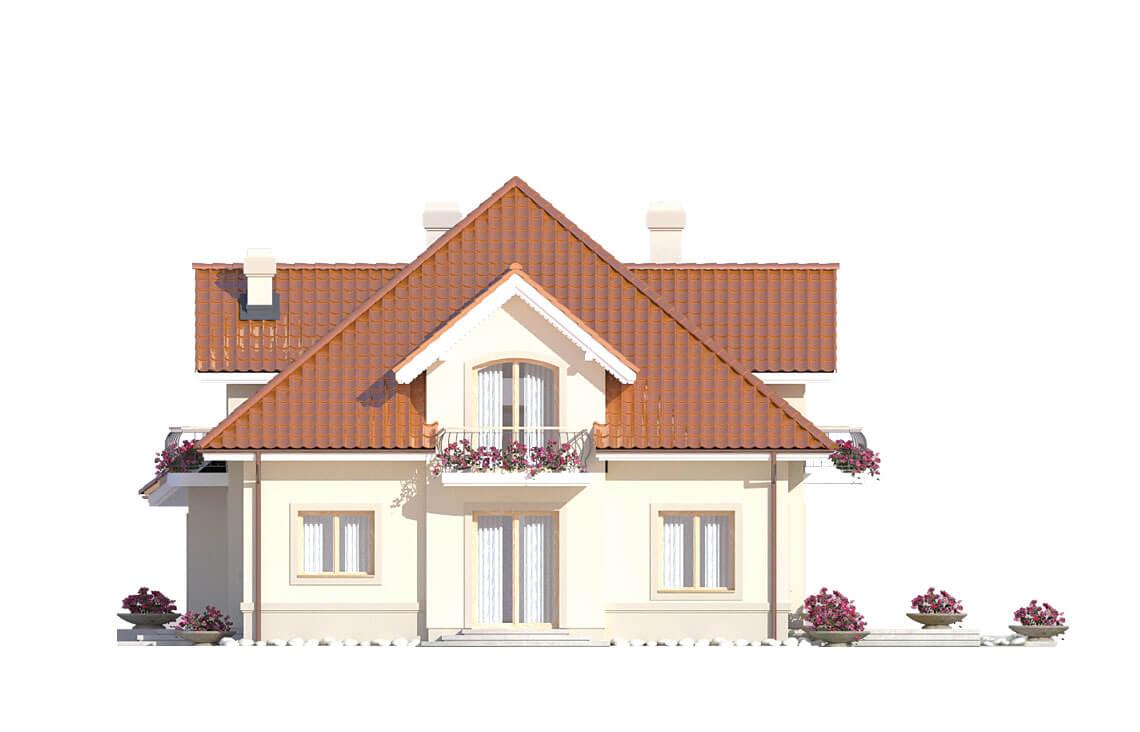 Projekt domu jednorodzinnego Aramis A elewacja prawa