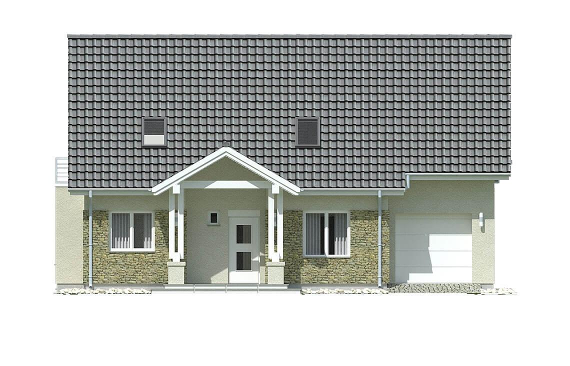 Projekt domu jednorodzinnego Arkan A elewacja front