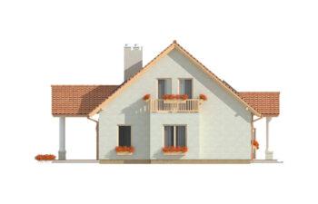 Projekt domu jednorodzinnego Arkan Dworek A elewacja lewa