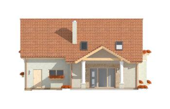 Projekt domu jednorodzinnego Arkan Dworek A elewacja ogród