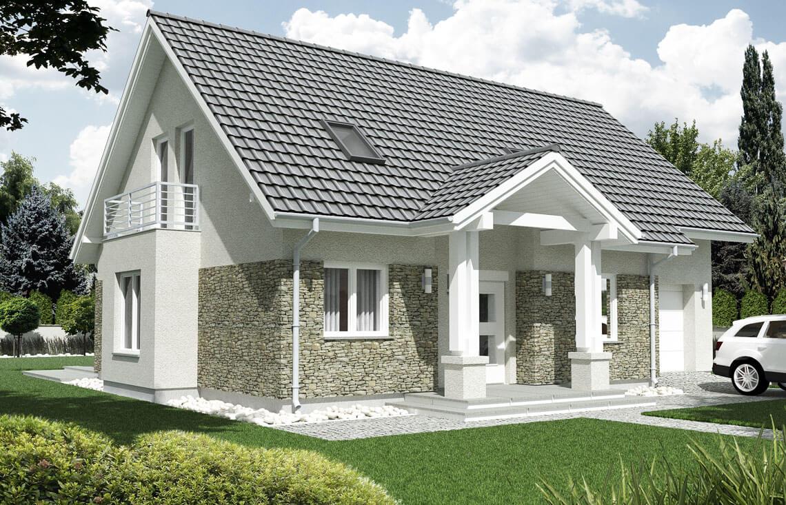 Projekt domu jednorodzinnego Arkan A widok front