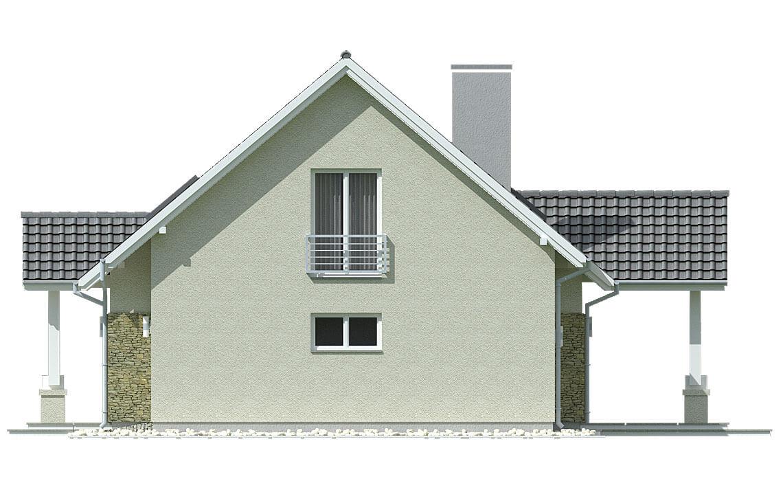 Projekt domu jednorodzinnego Arkan A elewacja lewa