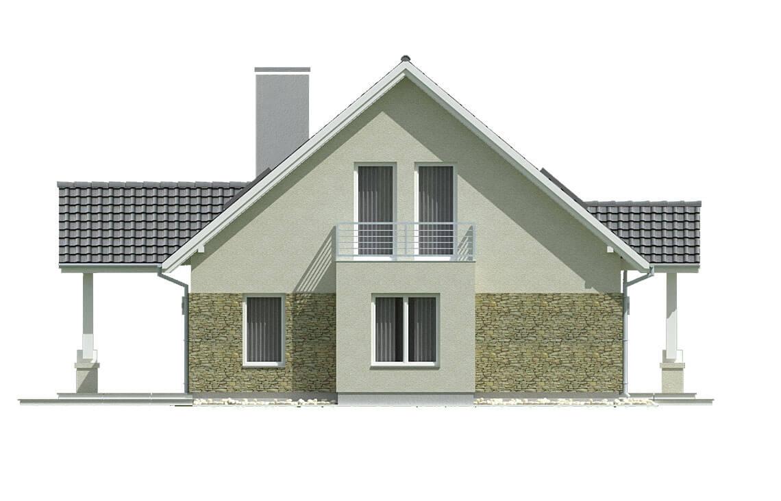 Projekt domu jednorodzinnego Arkan A elewacja prawa