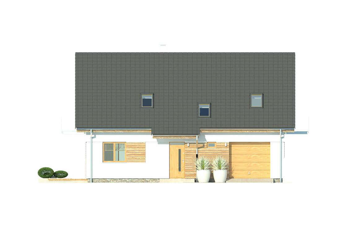 Projekt domu jednorodzinnego Atos A elewacja front