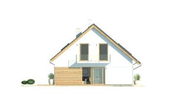 Projekt domu jednorodzinnego Atos A elewacja lewa