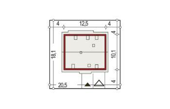 Projekt domu jednorodzinnego Atos A sytuacja