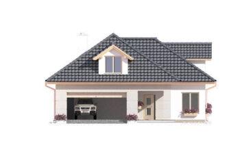 Projekt domu jednorodzinnego Atu A elewacja front