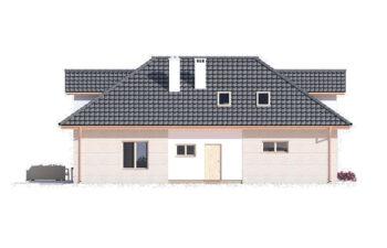 Projekt domu jednorodzinnego Atu A elewacja lewa