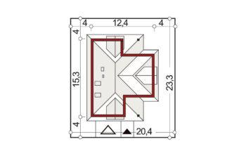 Projekt domu jednorodzinnego Atu A sytuacja