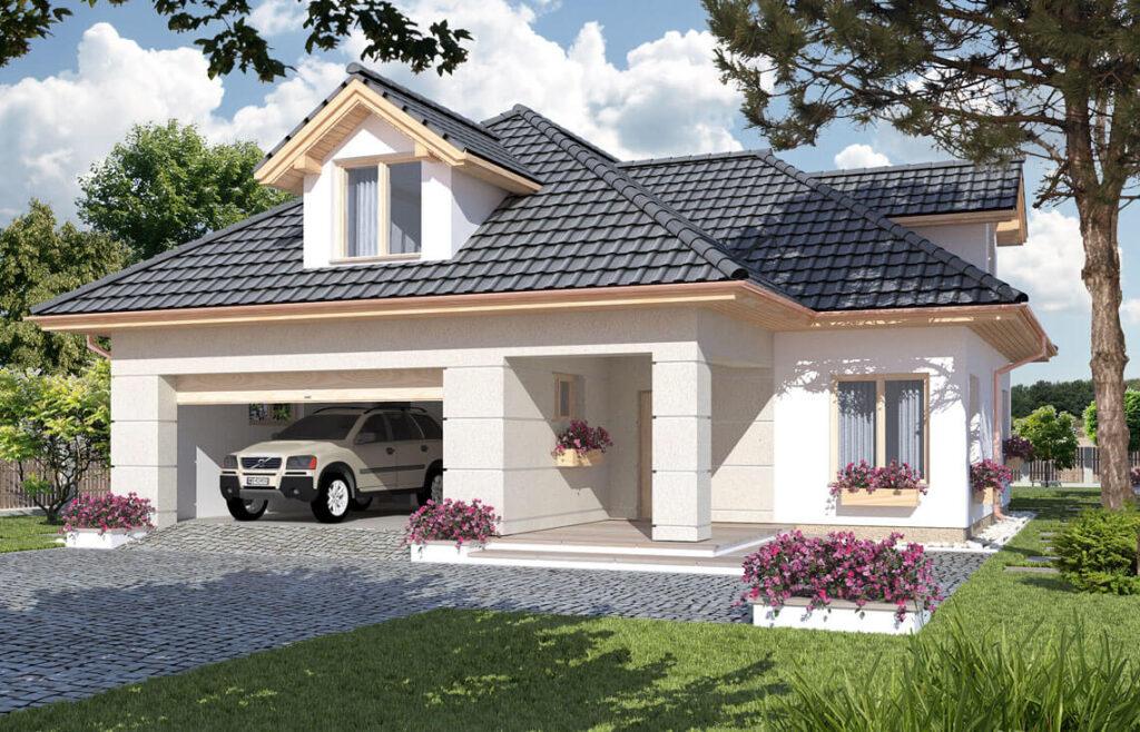 Projekt domu jednorodzinnego Atu Awidok front