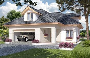 Projekt domu jednorodzinnego Atu A widok front