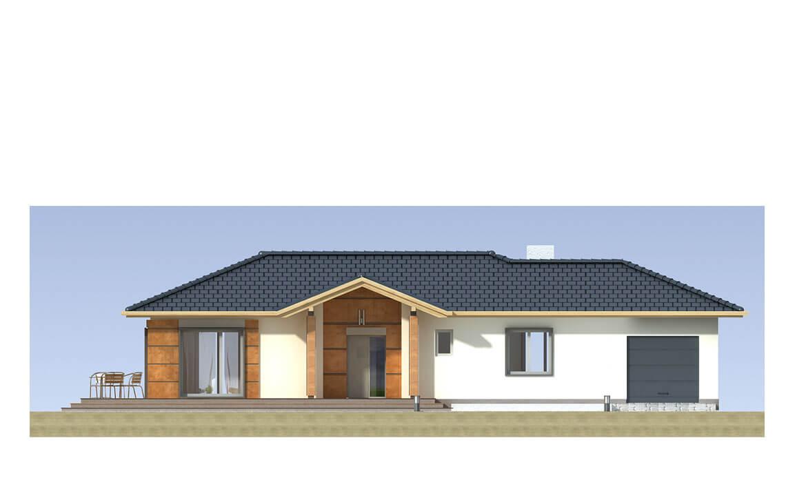 Projekt domu jednorodzinnego Basia 2A elewacja front