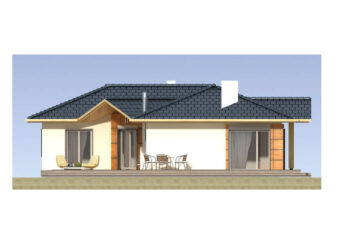 Projekt domu jednorodzinnego Basia 2A elewacja lewa