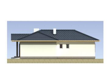 Projekt domu jednorodzinnego Basia 2A elewacja prawa