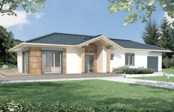 Projekt domu jednorodzinnego Basia 2A widok front