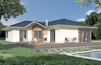 Projekt domu jednorodzinnego Basia 2A widok ogród