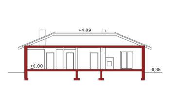 Projekt domu jednorodzinnego Basia 2 ptrzekrój