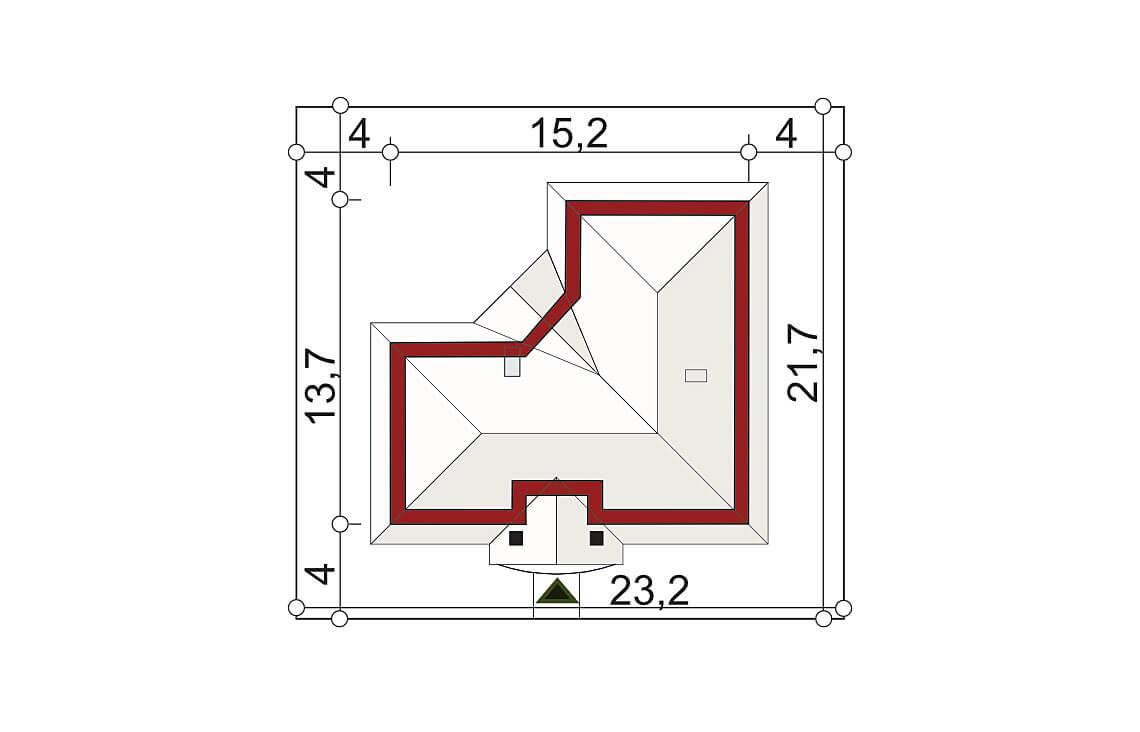 Projekt domu jednorodzinnego Basia 2A sytuacja