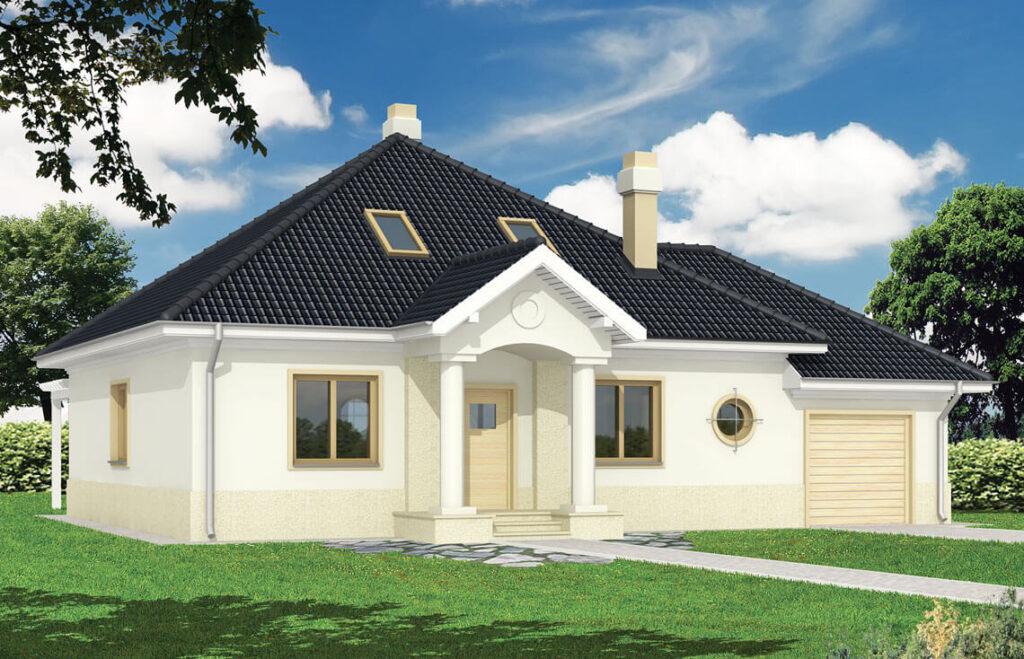 Projekt domu jednorodzinnego Bell widok front