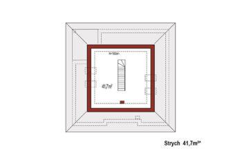 Projekt domu jednorodzinnego Bella A rzut poddasza