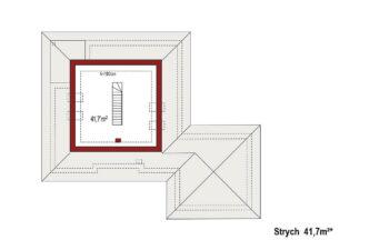 Projekt domu jednorodzinnego Bella B rzut poddasza
