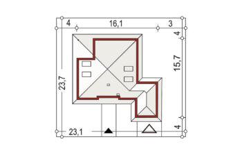 Projekt domu jednorodzinnego Bella B sytuacja