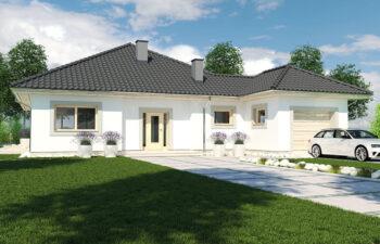 Projekt domu jednorodzinnego Bella widok front