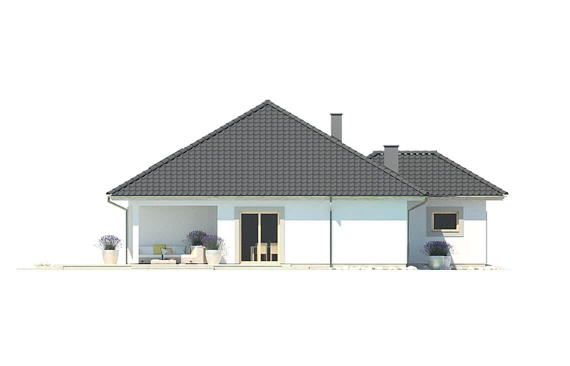 Projekt domu jednorodzinnego Bella elewacja lewa
