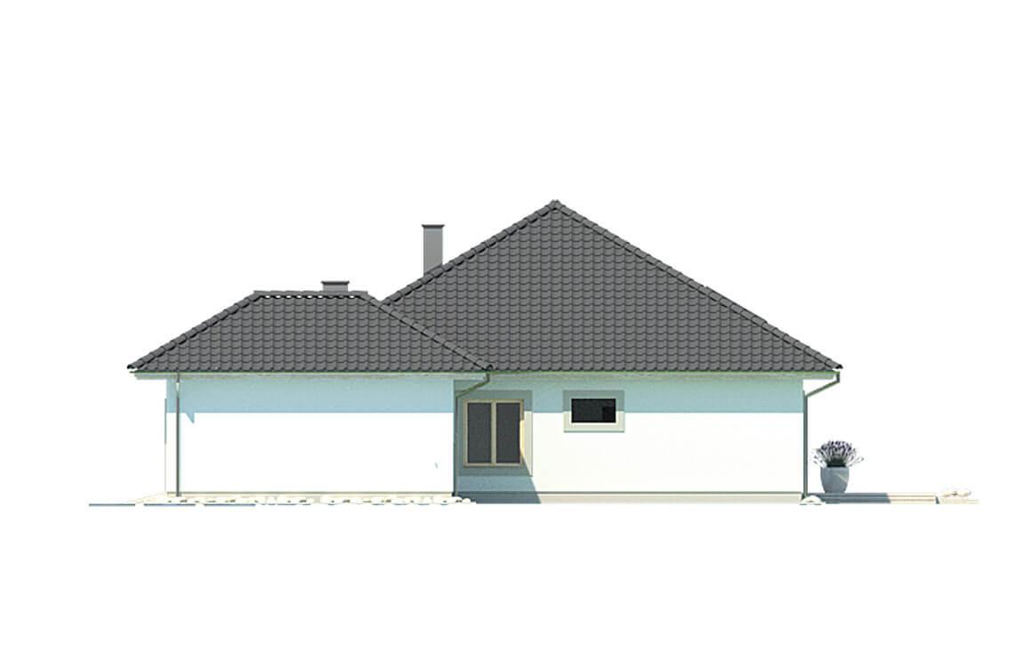 Projekt domu jednorodzinnego Bella elewacja prawa