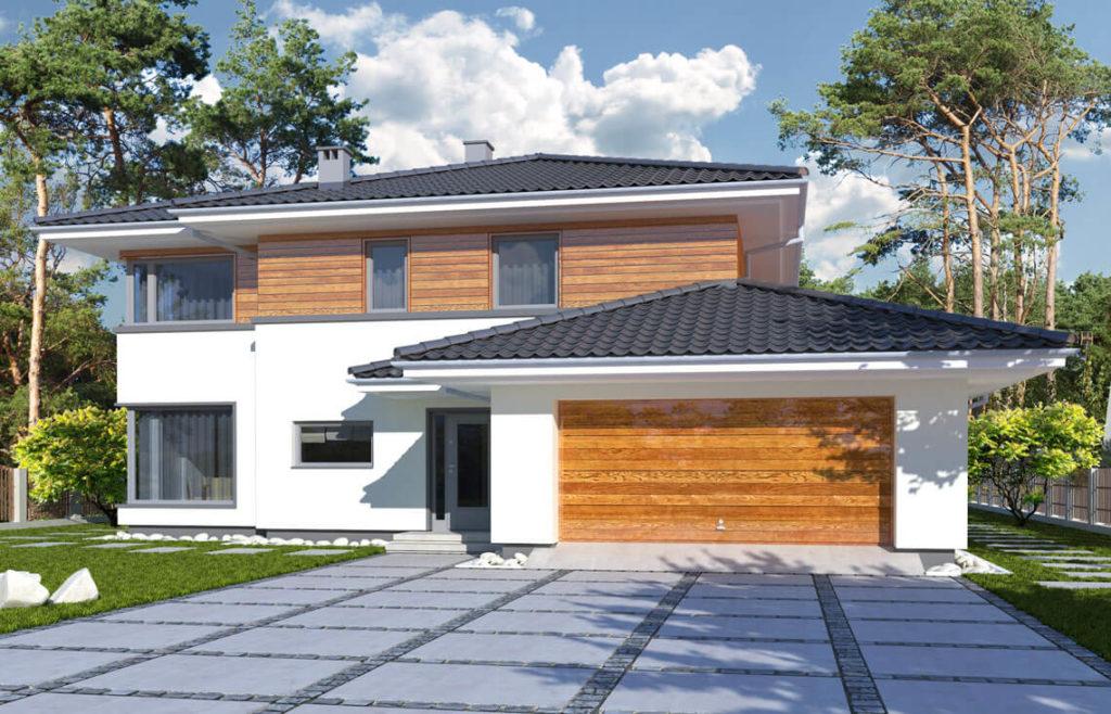 Projekt domu jednorodzinnego Boss Awidok front