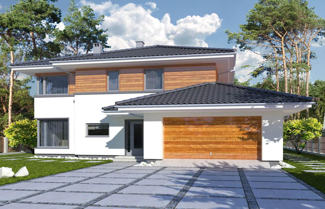 Projekt domu jednorodzinnego Boss A widok front
