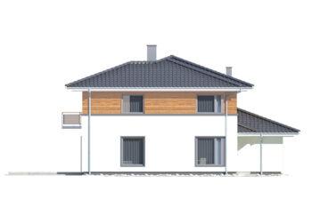 Projekt domu jednorodzinnego Boss A elewacja lewa