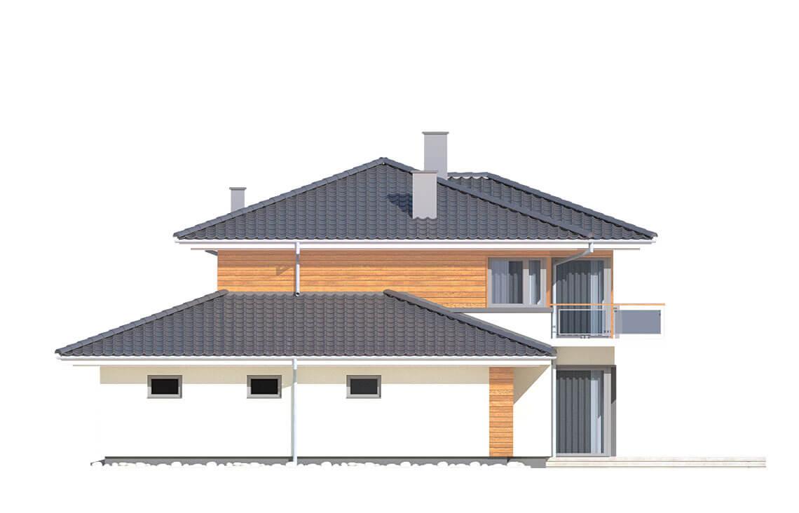Projekt domu jednorodzinnego Boss A elewacja prawa