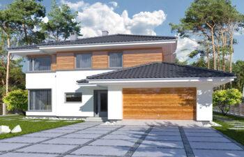 Projekt domu jednorodzinnego Boss B widok front