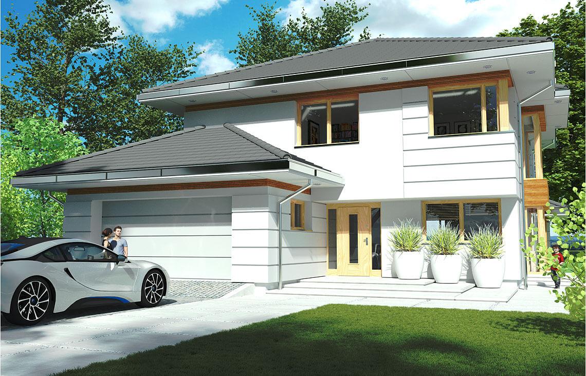 Projekt domu jednorodzinnego Carmen Grande wwidok front