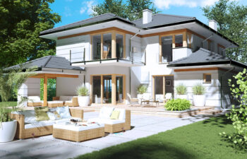Projekt domu jednorodzinnego Carmen Grande widok ogród