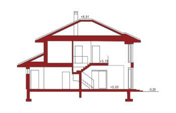 Projekt domu jednorodzinnego Carmen Grande przekrój