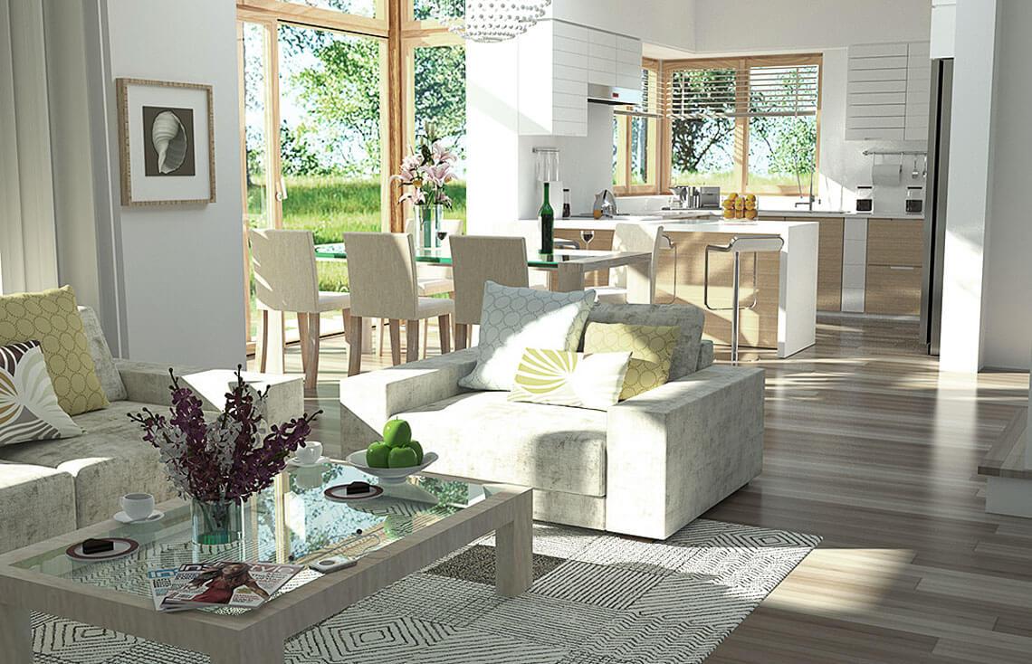 Projekt domu jednorodzinnego Carmen Magdalena Optima A wnętrze 1