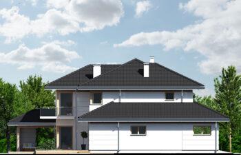 Projekt domu jednorodzinnego Carmen Magdalena A, B, C elewacja lewa
