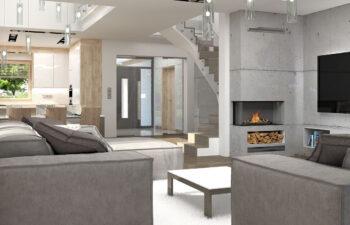 Projekt domu Carmen Magdalena LUX wnętrze 5 salon