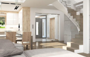 Projekt domu Carmen Magdalena LUX wnętrze 3 schody