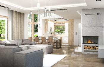 Projekt domu Carmen Magdalena LUX wnętrze 4 salon