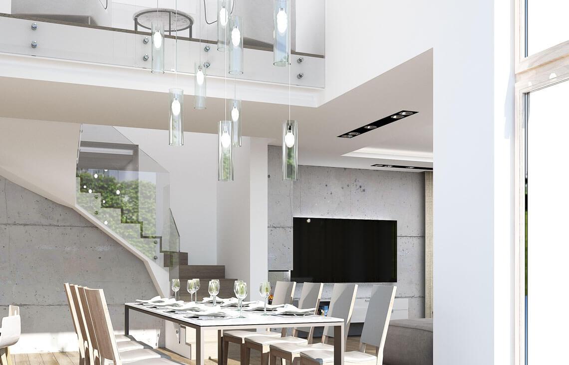Projekt domu Carmen Magdalena LUX wnętrze 7 jadalnia schody