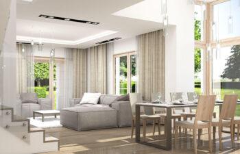 Projekt domu Carmen Magdalena LUX wnętrze 8 salon