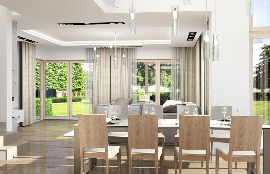 Projekt domu Carmen Magdalena LUX wnętrze 9 salon jadalnia