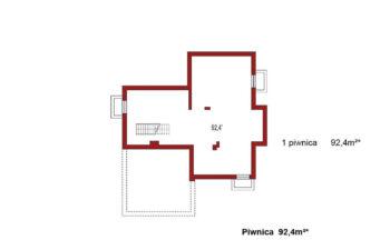Projekt domu jednorodzinnego Carmen Magdalena A z piwnicą rzut piwnicy