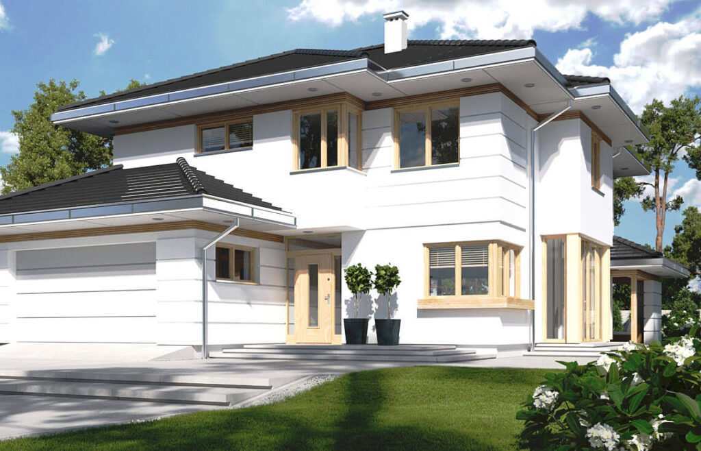 Projekt domu jednorodzinnego Carmen Magdalena B, C front 1
