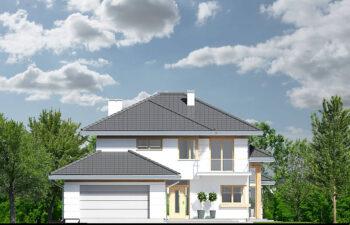 Projekt domu jednorodzinnego Carmen Magdalena Optima A elewacja front