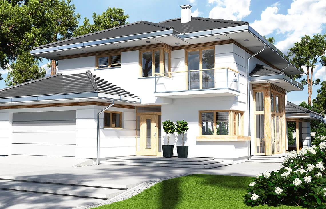 Projekt domu jednorodzinnego Carmen Magdalena Optima A widok front