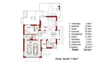 Projekt domu jednorodzinnego Carmen Magdalena Optima A rzut poddasza